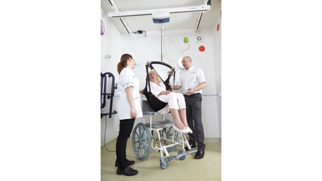 Grúa de techo para pacientes